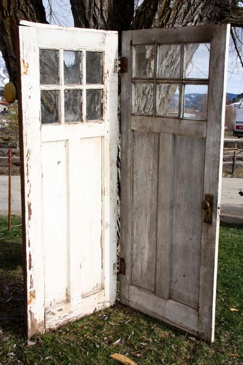 Vintage Door Vignette