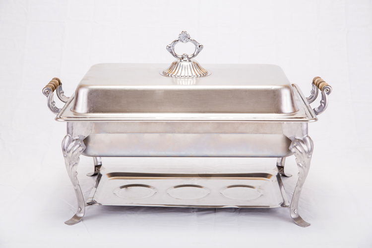 8 QT Rectangle Decorative Chafing Dish