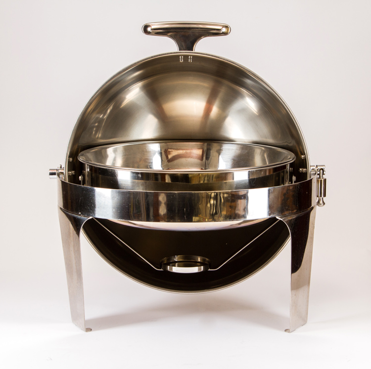 5 QT Round Chafing Dish Roll Top