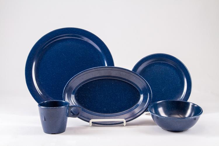 Blue Speckle China Set