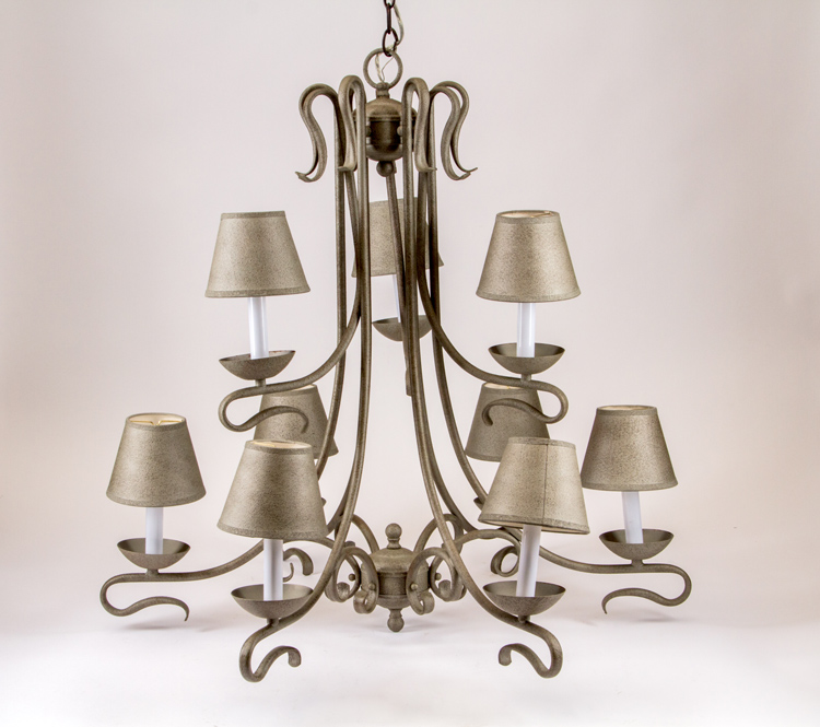 Matte Finish Silver Chandelier