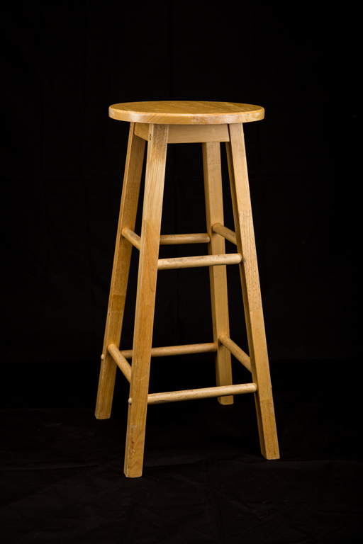 Natural Wood Bar Stool