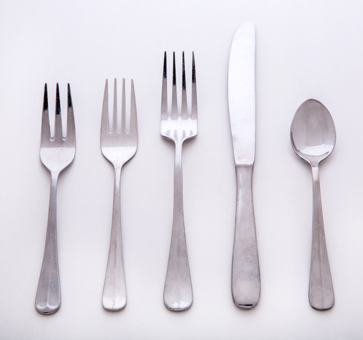 V Handle Flatware Set