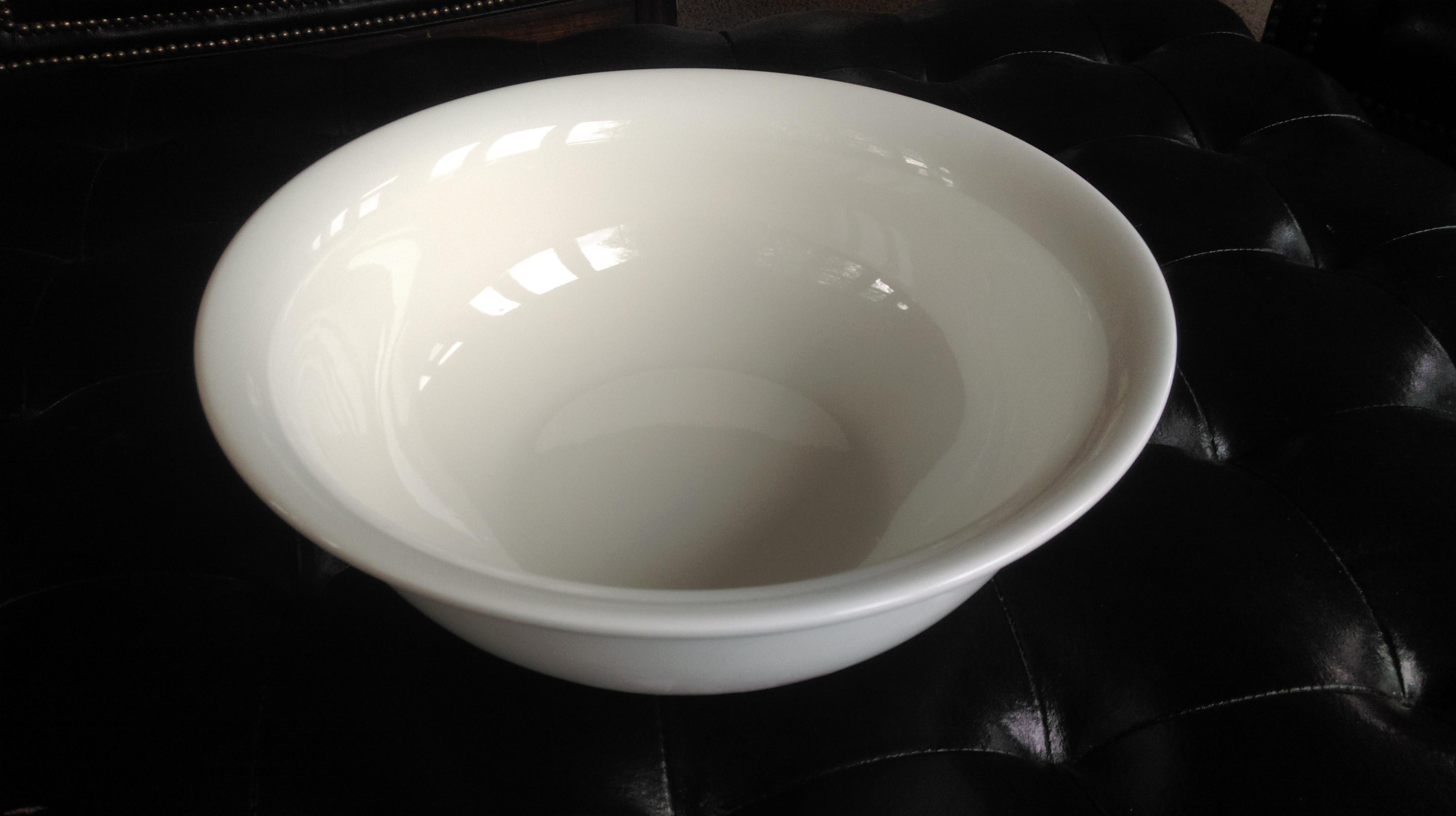 White China Serving Bowl